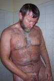 bearded daddy bear showering bathing soaking wet.jpg