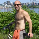 hairy chest bicycling man bicyclist working outside.jpg