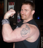 Tattooed Big Arms Daddy Bikers Chest Tattoos Guys Sports