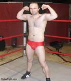 pro wrestling show leather trunks flexing boy.jpg