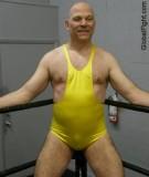 big balding tough wrestler man wrestling singlet bulge.jpg