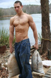 Muscle Boy Ripped Sixpack Abs Fisherman Lake Hiking.jpg