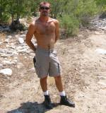 stud boy hiking musclejock manly dude mountain climbing shirtless.jpg