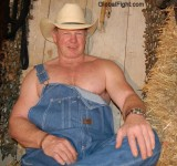 hot cowboy daddy wearing coveralls jeans shirtless hairychest.jpg