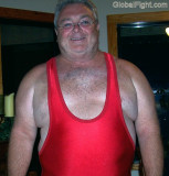 huge chest stocky daddy bear wearing red wrestling singlets.jpg