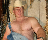 cowboy daddys big hairy arms chest overalls.jpeg