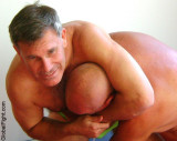 a hairy daddybears cubs wrestling bedroom home matches.jpg