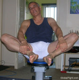 athletic older man muscled body arms legs tent.jpg
