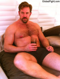 suntanning lounging daddy hairy bear hot chest deck chair pics.jpg