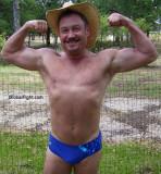 goatee redneck cowboys shirtless flexing hairy armpits pecs.jpg