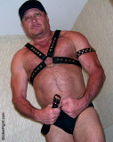country boy wrestler wearing leather harness ready to fight.jpg