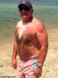 silvery hairychest grandaddy walking beach photos.jpg