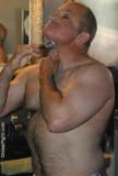 very tall gay man bear shaving bathroom.jpg