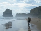 John on Gibson's beach, Port Campbell National Park