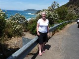 Elaine on the Great Ocean Road