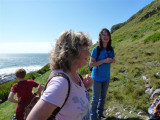 Our guide points out the blowhole