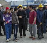 Workers evacuating Kloosterboer plant