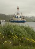 Kulluk at its Captain's Bay moorage
