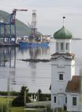 Unalaska's Russian Orthodox Church and the APL dock
