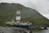 Kulluk leaves Captain's Bay for the Arctic