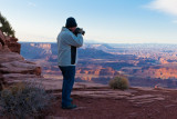 Charlie Photographing at Dead Horse Point