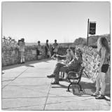 Busker & Tourists