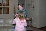 Grandpa Mike reading instructions