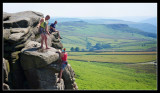 Summer Climbers on Stanage Edge