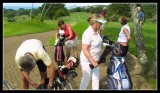 Southbroom - first tee chaos.
