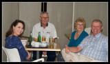 Sharon, Harold, Julia and Charles watch on
