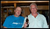 Ian and Lister enjoy a beer or two or three or four.