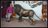 Graham tames the only Lion we saw - by Gill