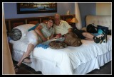 Mark & Sandra get settled in - by Gill