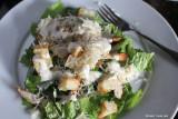 chicken cesear salad with garden romaine- yum!