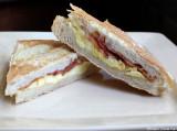 bacon egg and cheese panini
