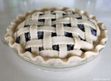 blueberry pie uncooked