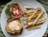 shackburger and fries