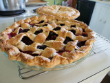 blackberry and peach pies
