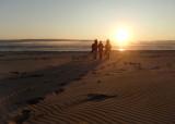 walking toward sunset