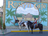 Riding through the small town of  Roslyn