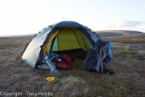 My First camp on Dartmoor