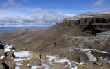 Sani pass looking east from Lesotho