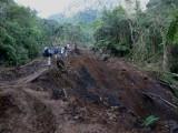 Mudslide at Loro Orejiamarillo Reserve