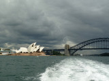 Sydney Harbor from the ferry to Manly