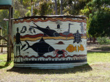 Painted water tank