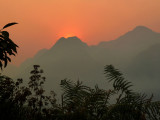 Sunset over Myanmar