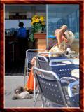 Colourful Lady With Pudel, Lugano, Switzerland