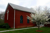 Brick Church at Muddelty with Flowering Dogwood tb0511qpr.jpg
