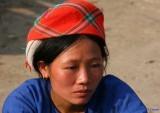 A Blue Hmong. Bao Lac Market.