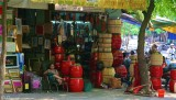 Hanoi - Red drums shop
